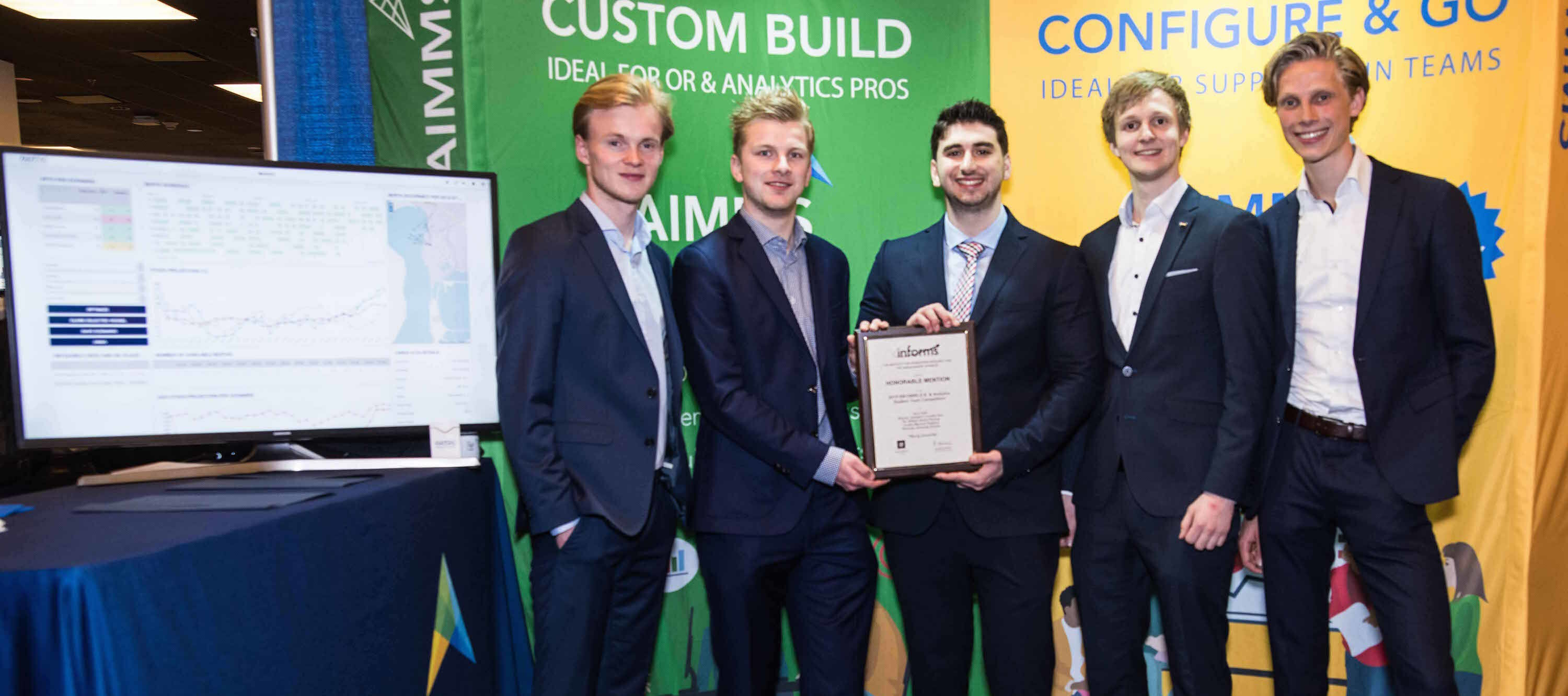 Finalist team uses AIMMS for the INFORMS 2019 O.R. & Analytics Student Competition