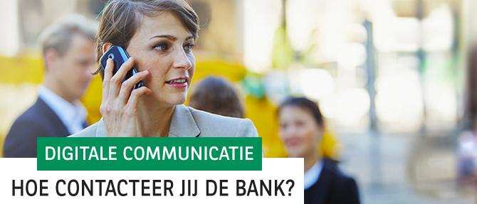 Digitaal contact met onze bank