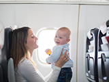 Vliegen met baby's en peuters