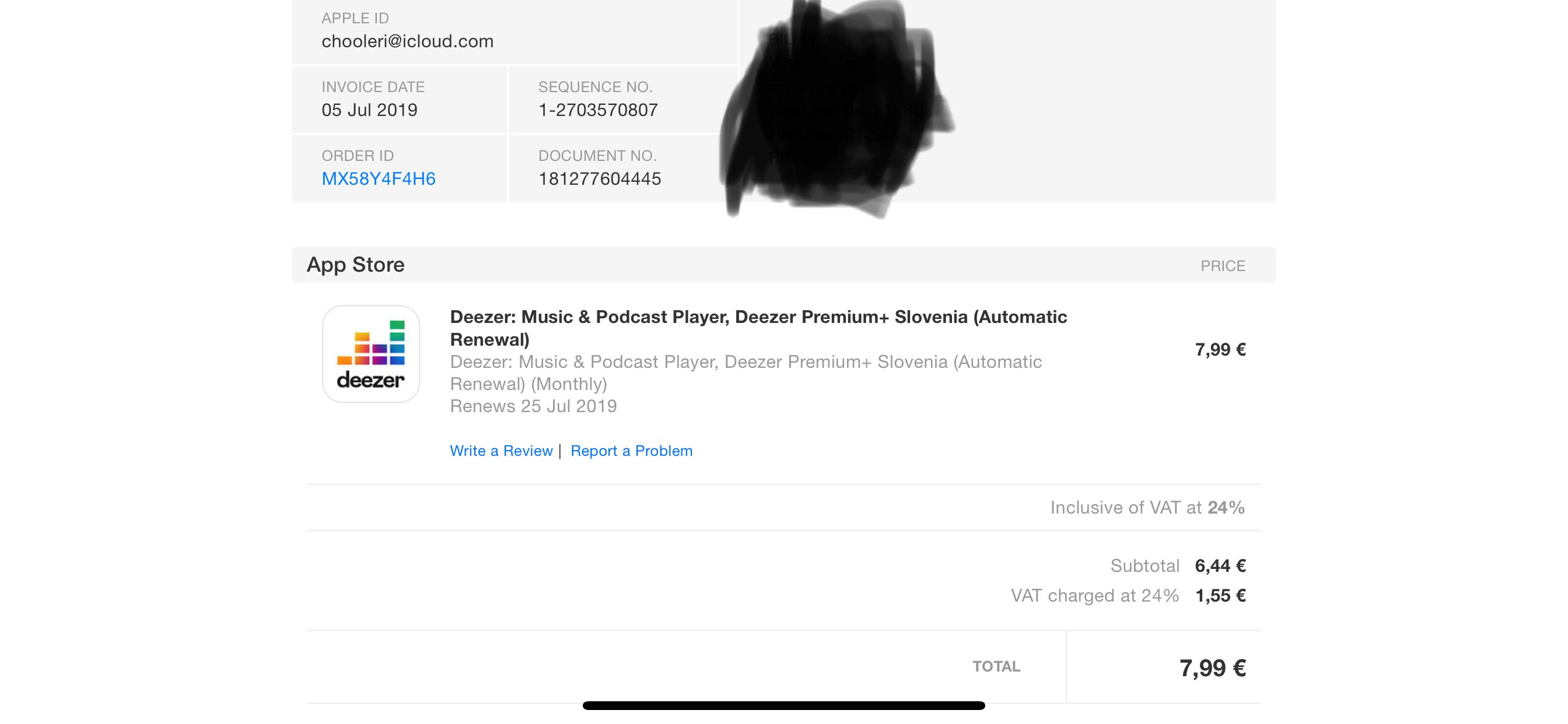 Itunes Payment - Account not upgraded   Deezer Community