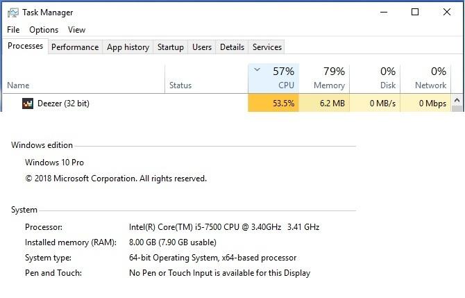 Deezer App HIGH CPU Usage on Windows | Deezer Community