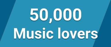 We are 50,000 members