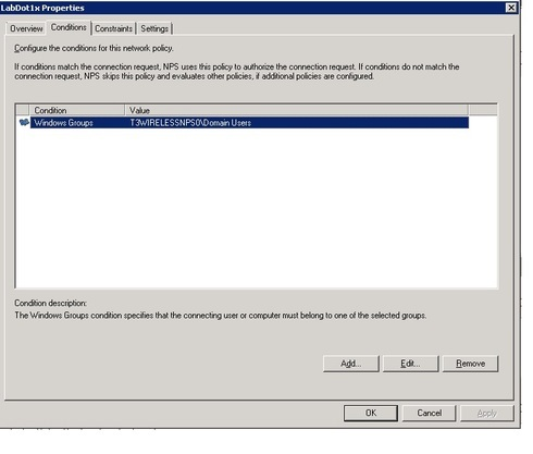 Radius request to Active Directory Domain Controller running Network