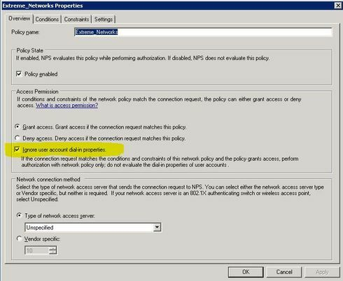 Radius Authentication configuring switch x440 as a client in