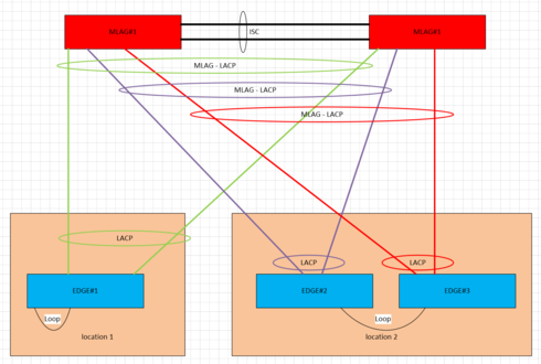 Loop Protection in MLAG Desgin with non-exos edge | Extreme