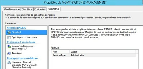 Can't configure RADIUS NPS on switch VSP7254   Extreme