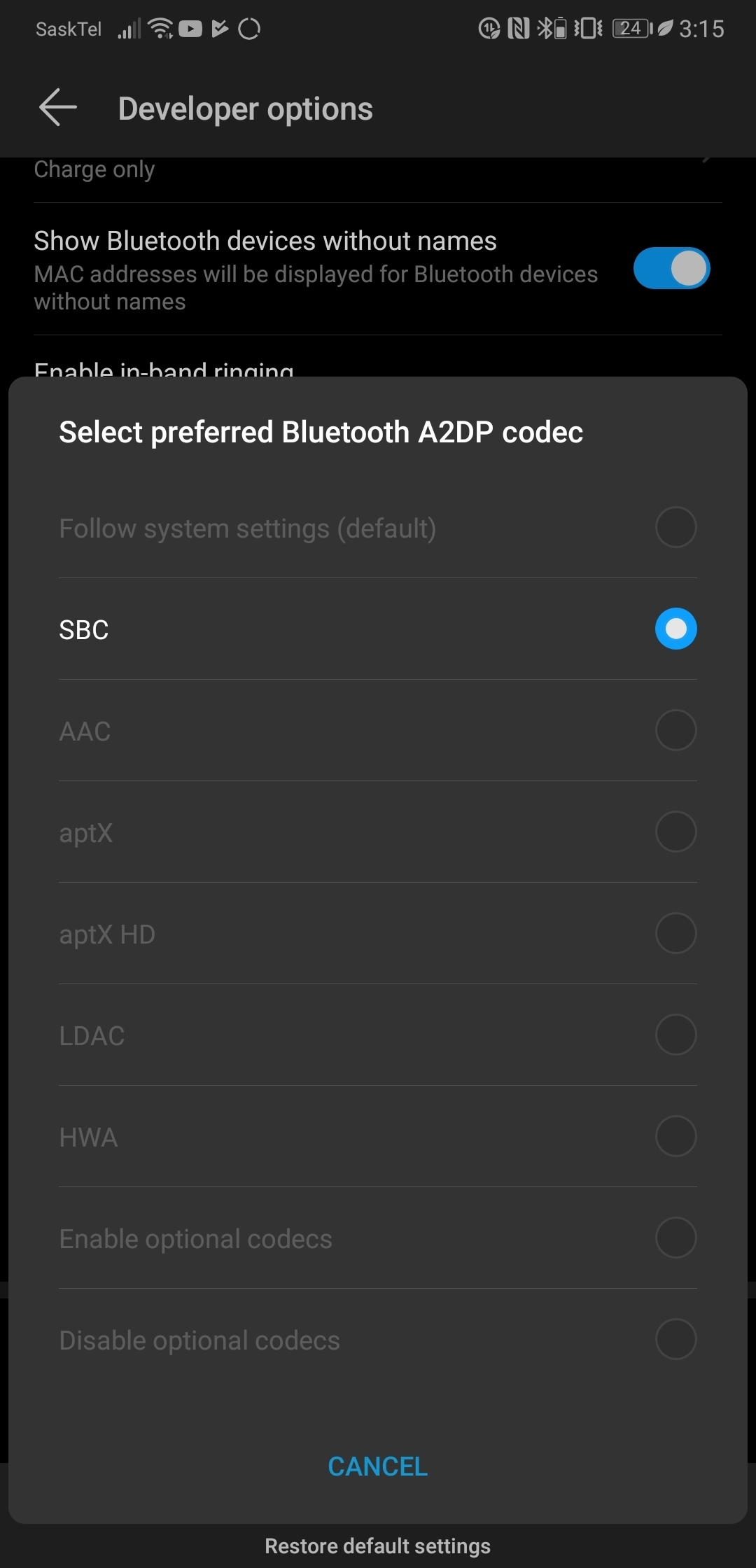 Bluetooth audio codec | Official Huawei Community UK