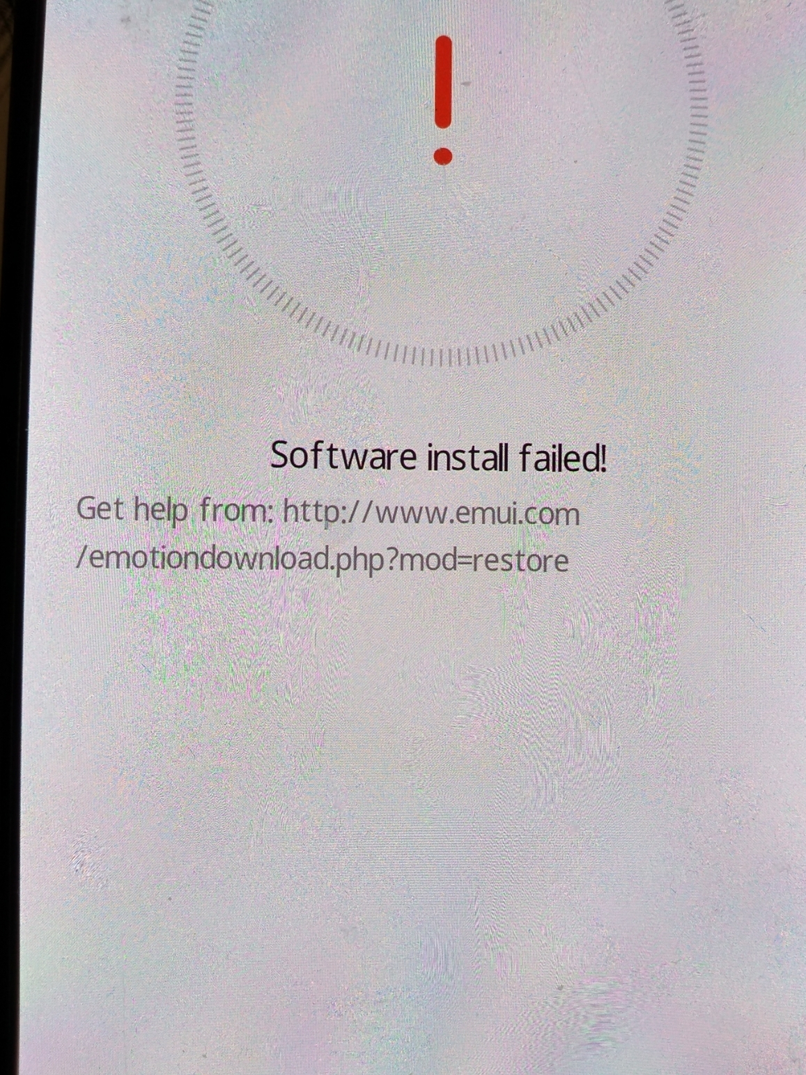 Erecovery mode - software failed to install P20 PRO | Official