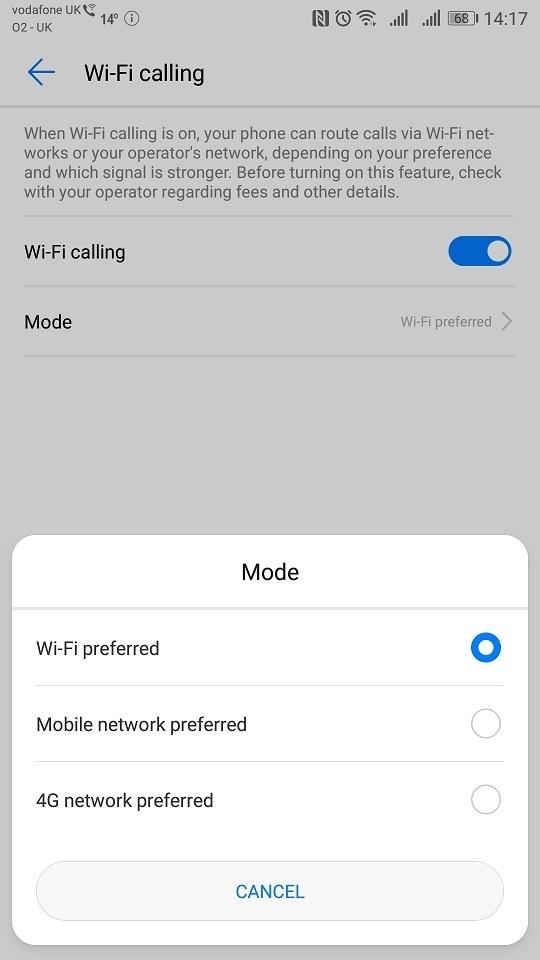 P10 Plus - No WIFI Calling after EMUI 9 0 1 upgrade