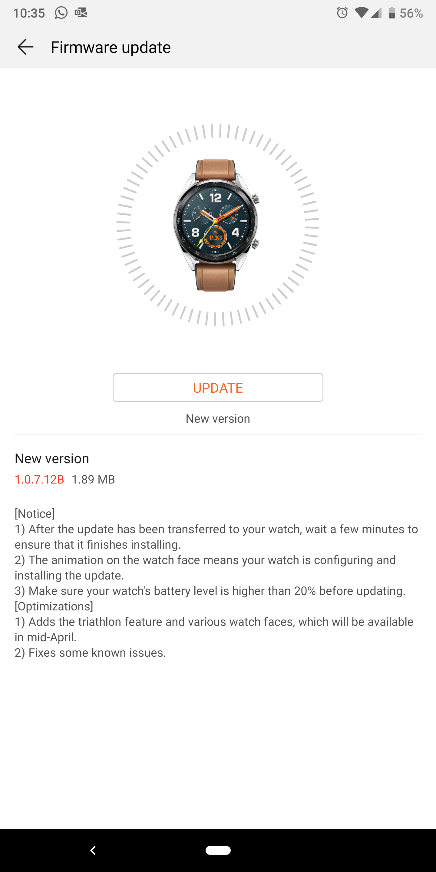 Huawei Watch GT (LiteOS)/Huawei Health Bugs and suggestions