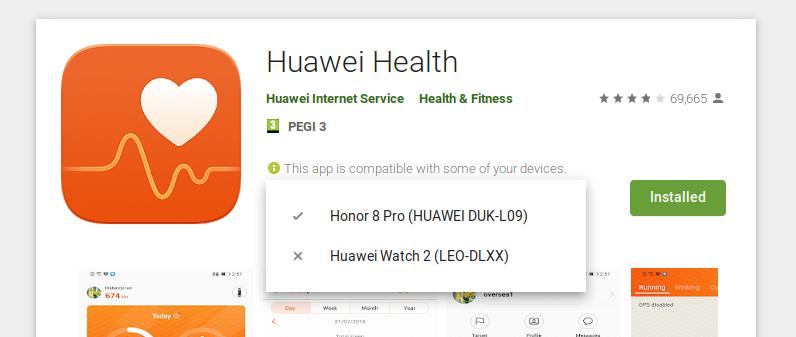 Huawei Health and Huawei Watch 2 (LEO-DLXX) | Official Huawei