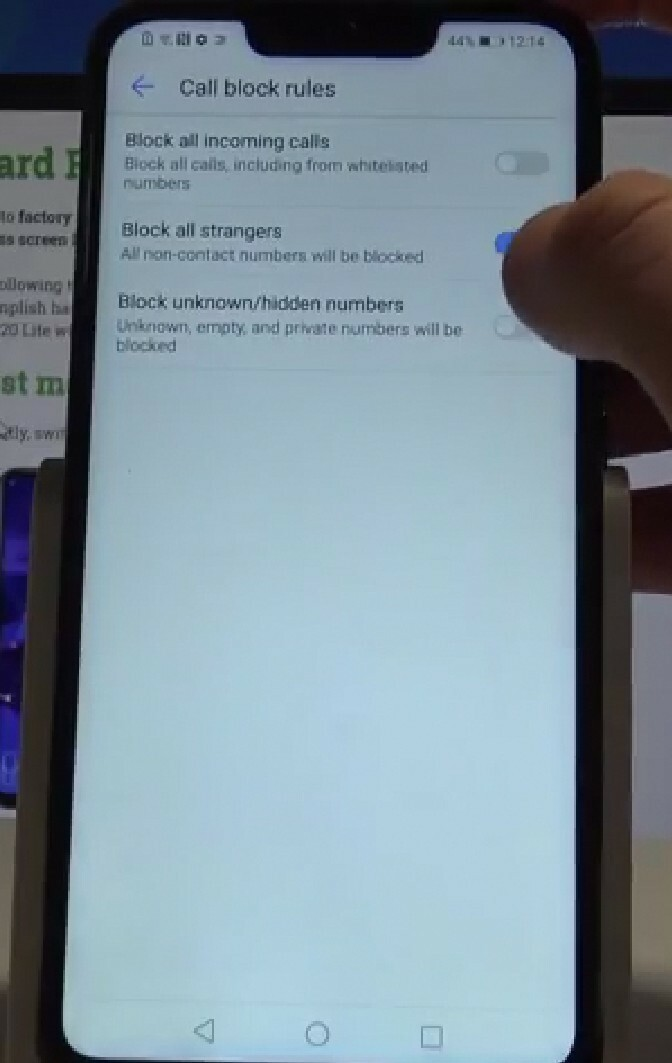 New EMUI update - Block all strangers   Official Huawei