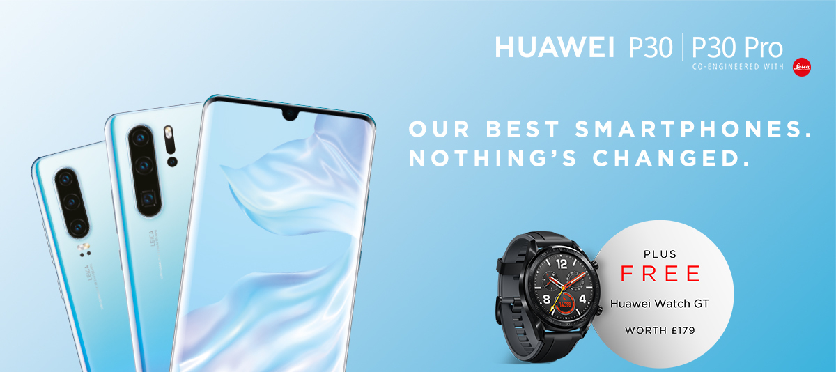 Buy a #HuaweiP30 or #HuaweiP30Pro now and claim a free Huawei Watch GT