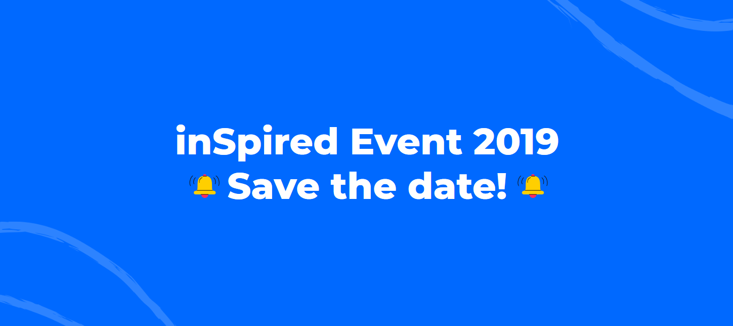inSpired Event 2019 - Save the date!