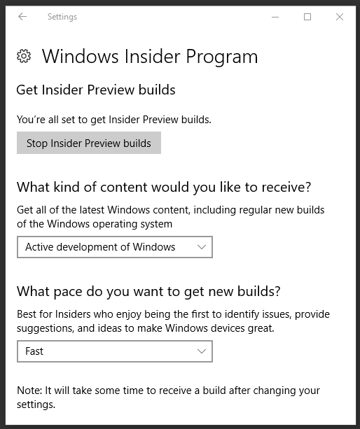 Windows 10 FCU] Back-up Online is helemaal klaar voor de