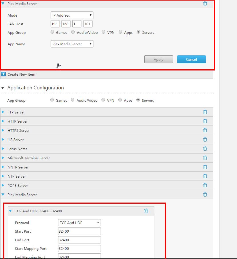 Probleem met rechtstreeks benaderen Plex Media Server bij