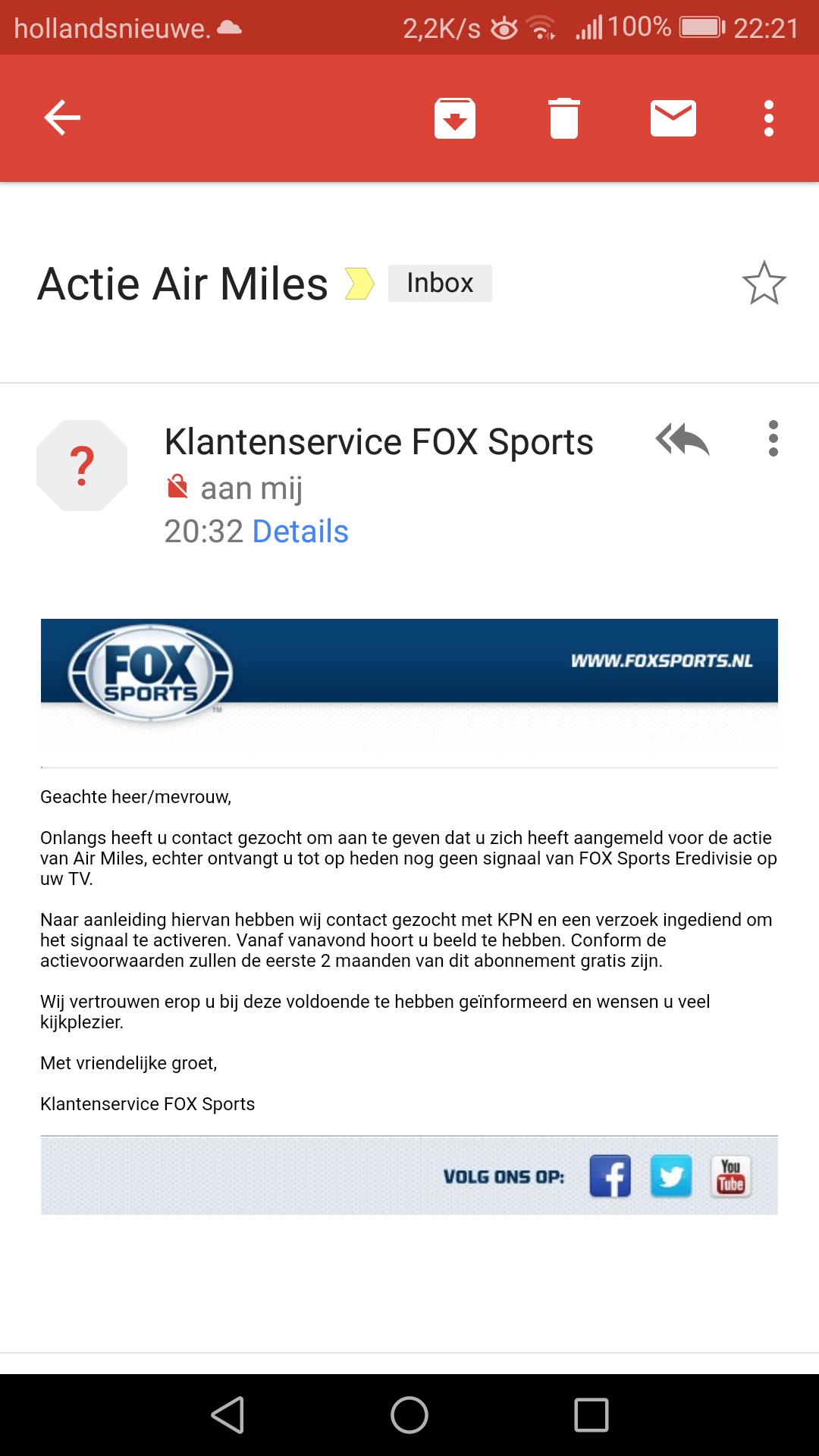 Fox Sport Eredevisie Via Airmiles Kpn Community
