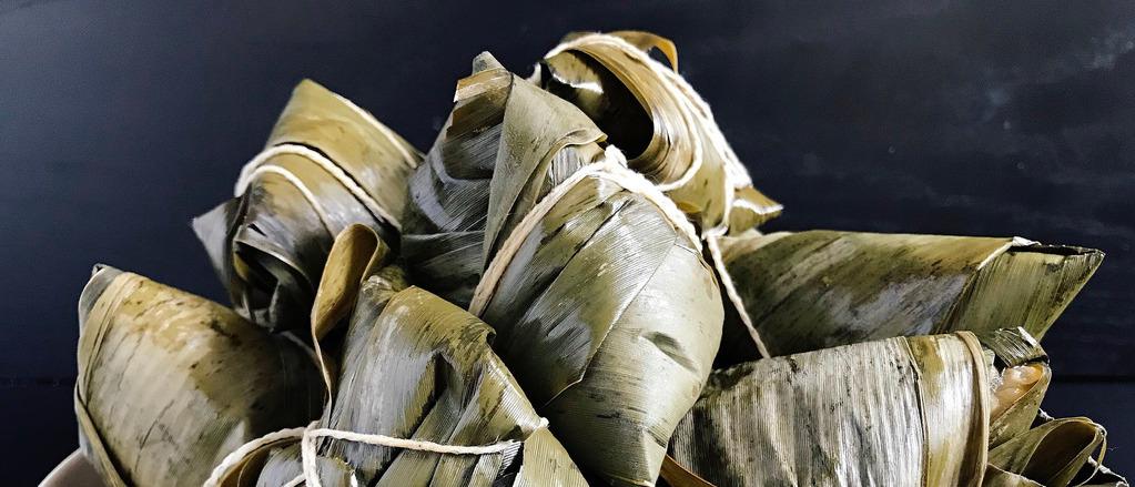 Recept: Kleefrijst gewikkeld in bamboebladeren (zongzi)