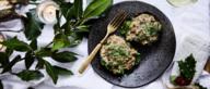 Kerstgerecht: Gevulde portobello met spinazie en Dianesaus