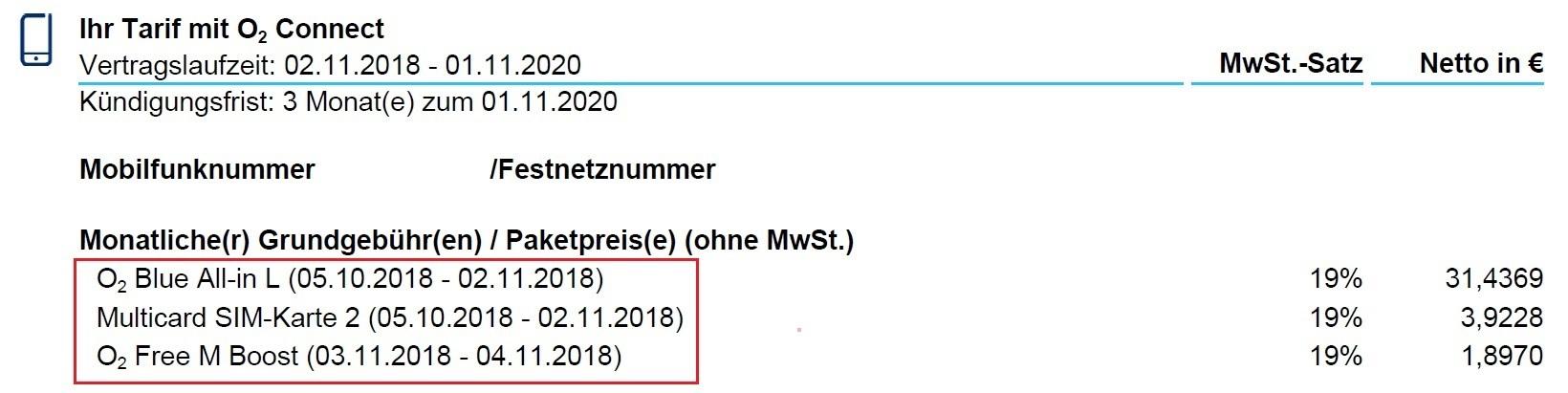 Tarifwechsel Packs Und Optionen In Deiner O2 Rechnung O₂ Community