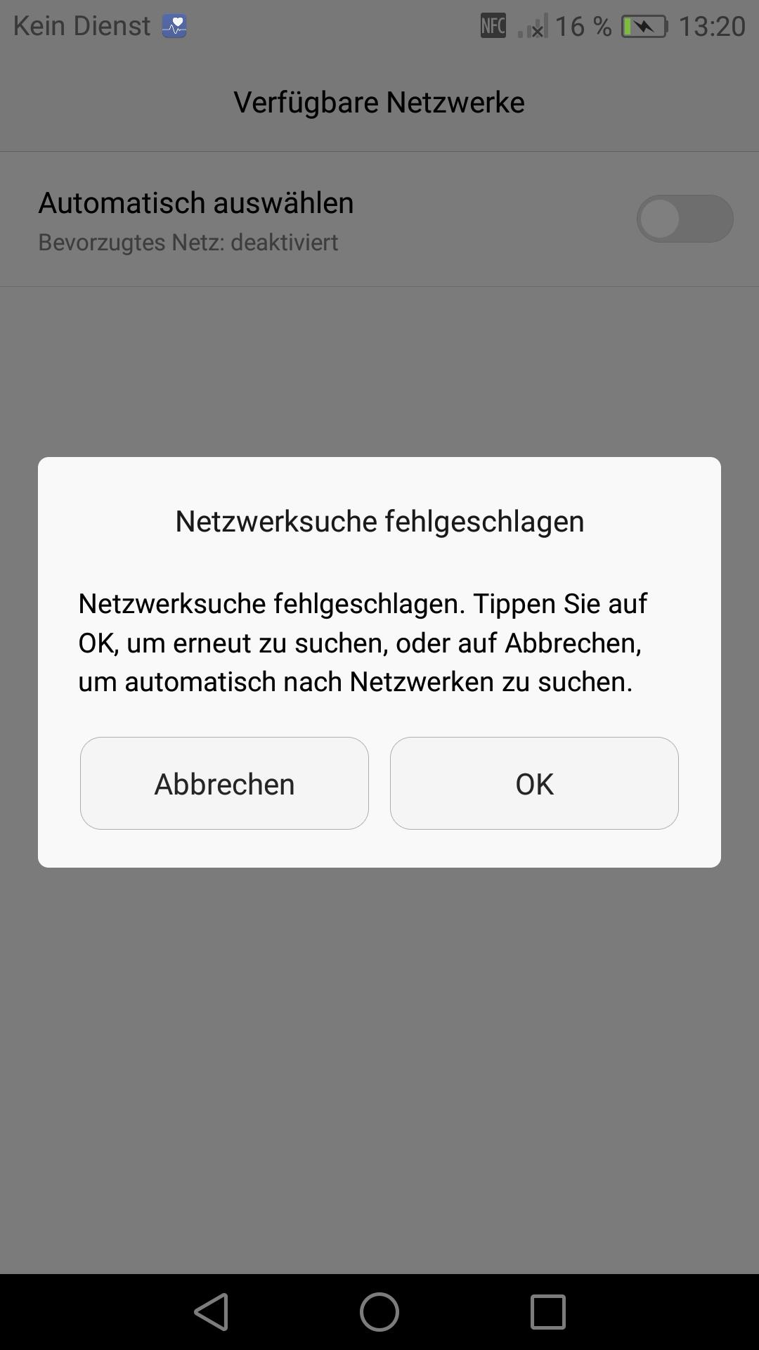 Sim Karte Erkannt Aber Kein Netz.Neues P9 Findet Kein Netz O Community