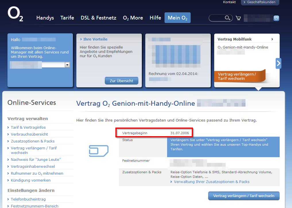 Alter O2 Vertrag Fehlerhafte Daten In O2 Onlineportal O₂ Community