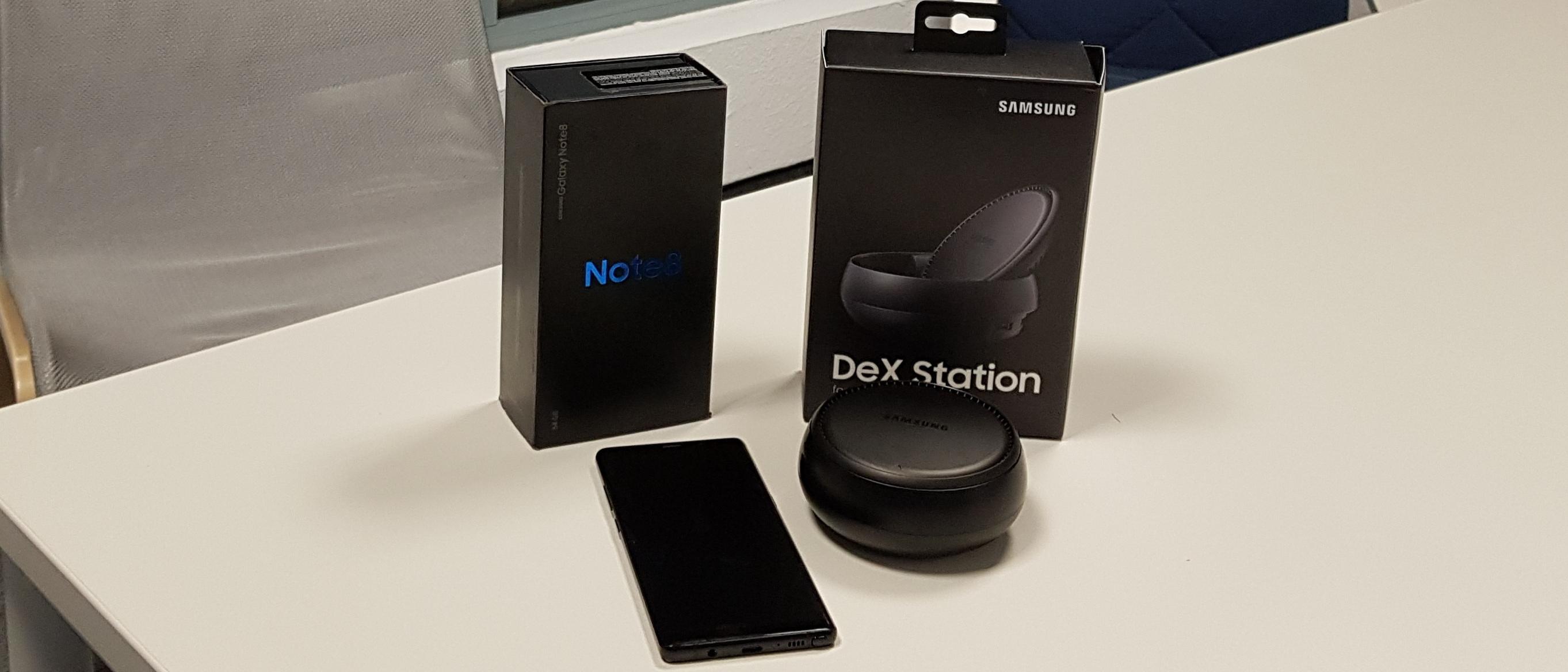 Testgerät Samsung Galaxy Note 8 + DeX Station Bundle
