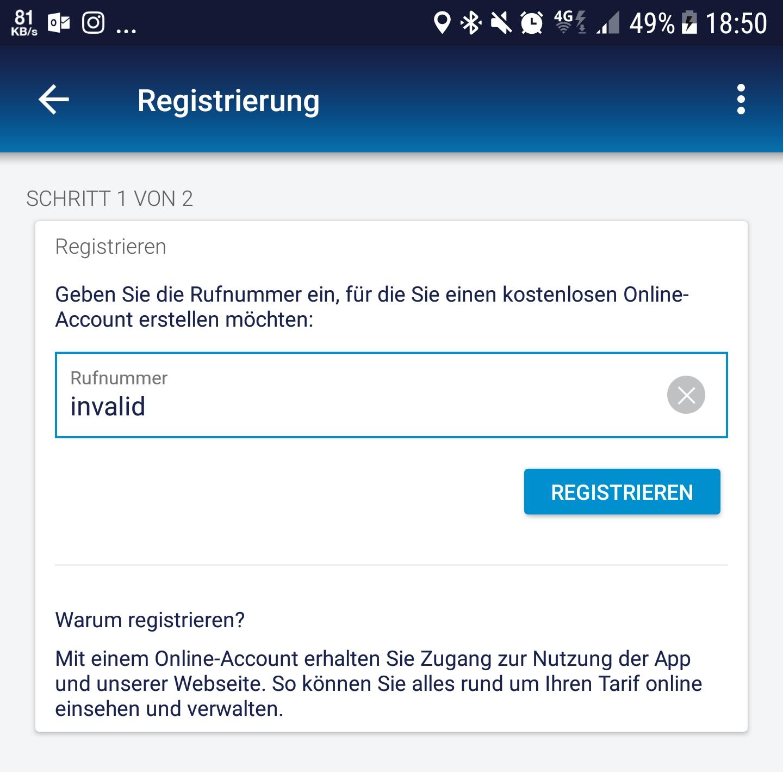 0e7411829c672e Kann mich bei o2 nicht registrieren.