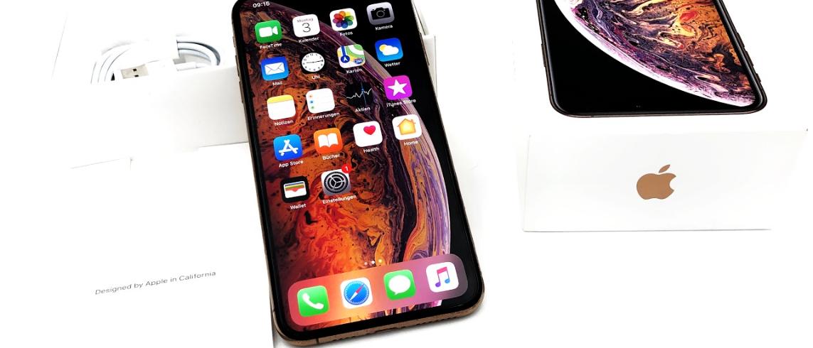 Das Iphone XS Max ist bereit für deinen Test
