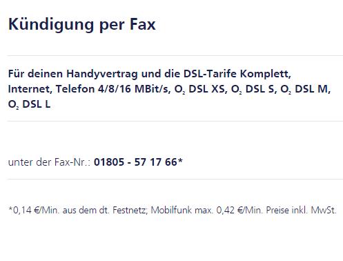 Kündigung Per Fax O₂ Community