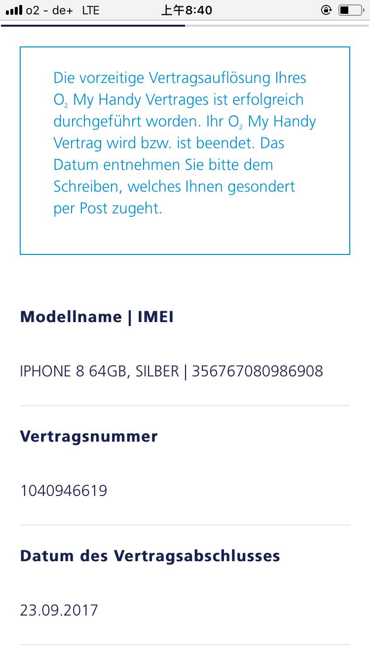 Ich Habe In September Die Vertragsverlängerung Mit Neu Iphone 8