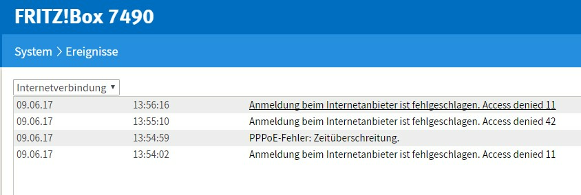 Fritz Box 7490 Anmeldung Ist Fehlgeschlagen Access Denied O