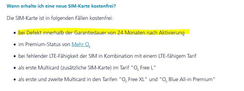 O2 Ersatz Sim Karte Kostenlos.Kostenlose Multicard Defekt Wie Bekomme Ich Ersatz O Community
