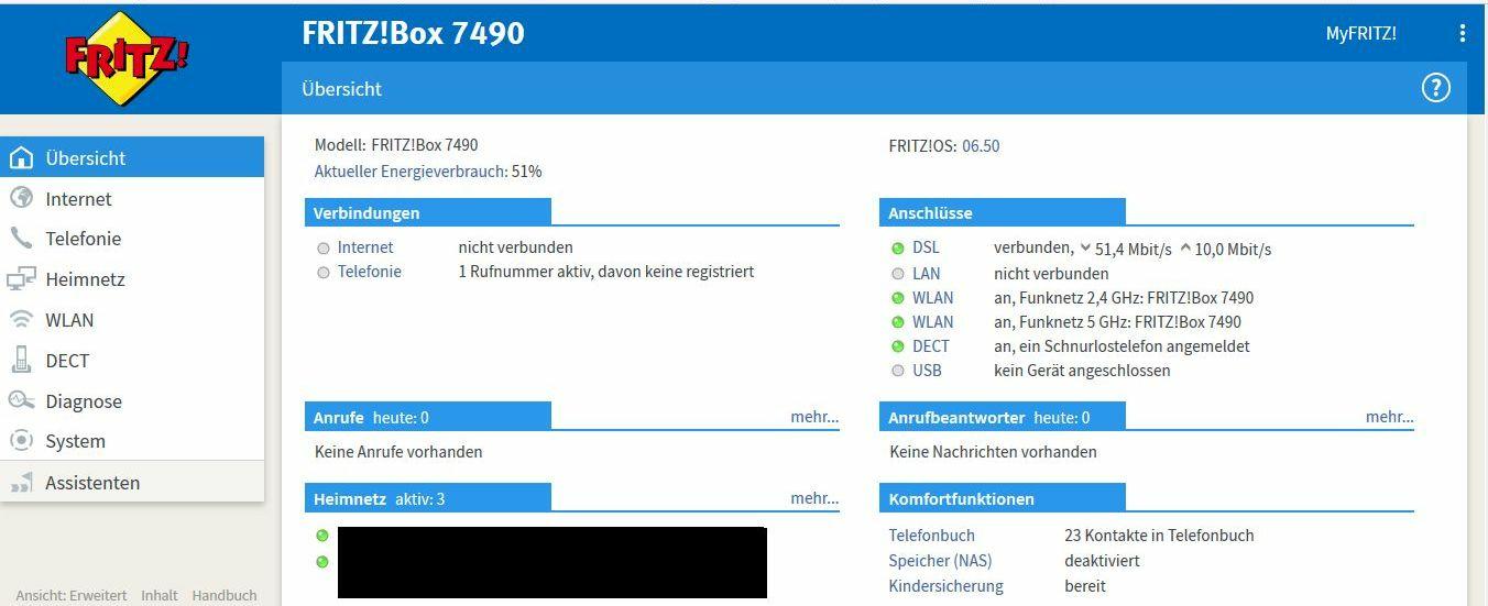 Fritzbox 7490 Wlan An Aber Keine Internetverbindung U Keine