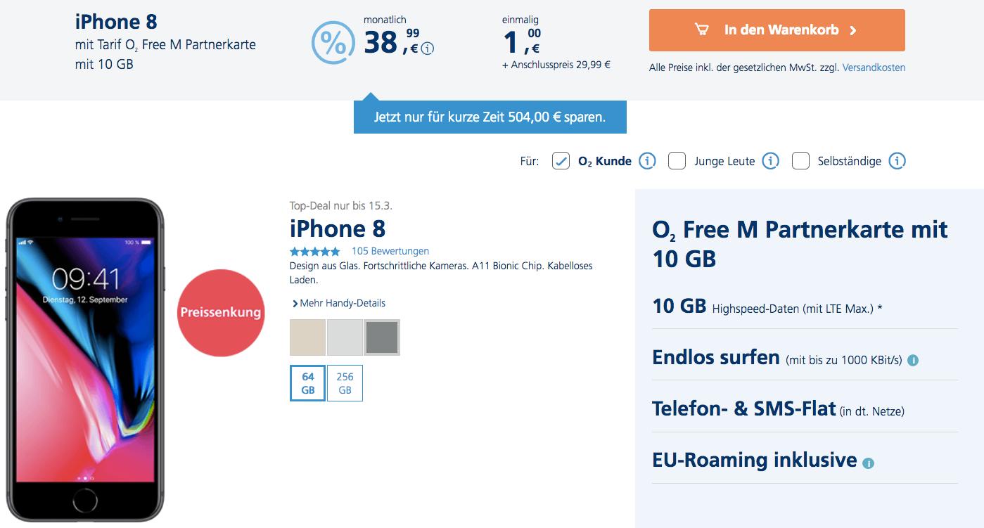Vertragsverlängerung Mit Iphone 8 Und Kombi Vorteil O₂ Community