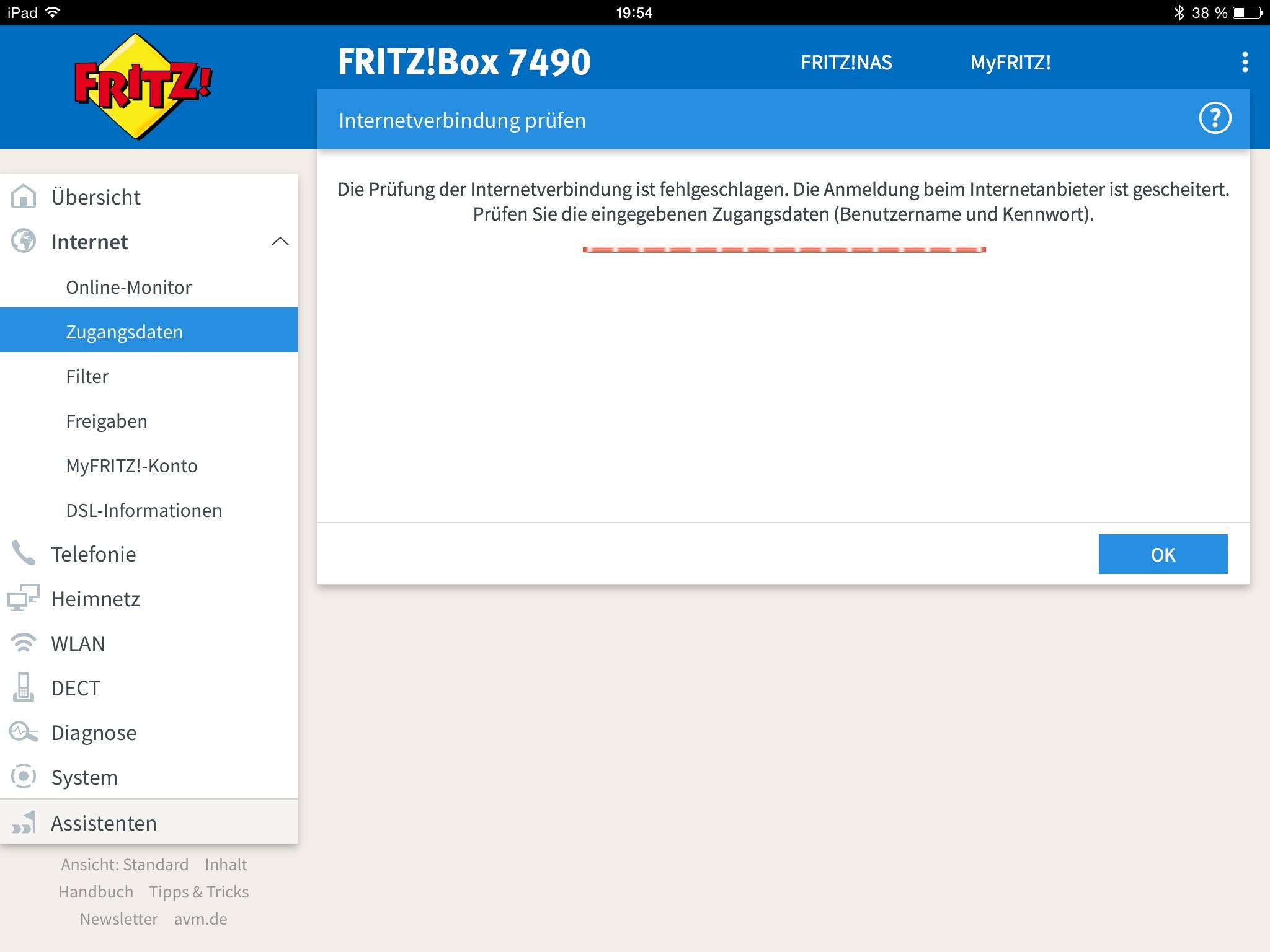 Kein Dsl Zugang Nach Technologiewechsel Fritzbox 7490 O Community
