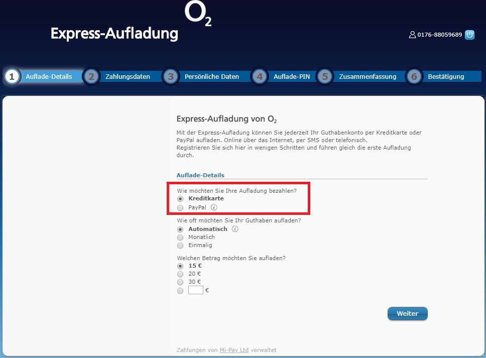 o2 karte aufladen Loop Prepaid und USSD Fragen | O₂ Community