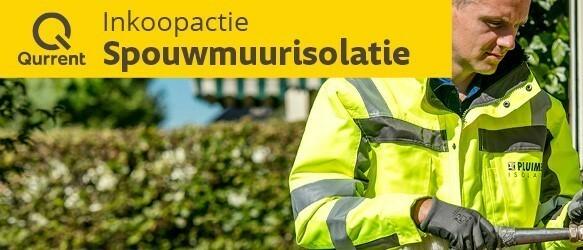 Inkoopactie Pluimers spouwmuurisolatie t/m 1 okt 2018