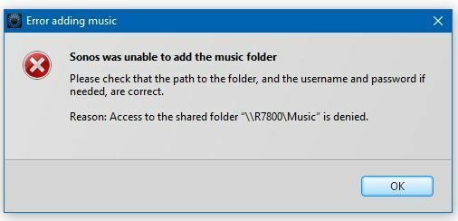 Unable to add USB Drive's Music Folder, attached to Netgear
