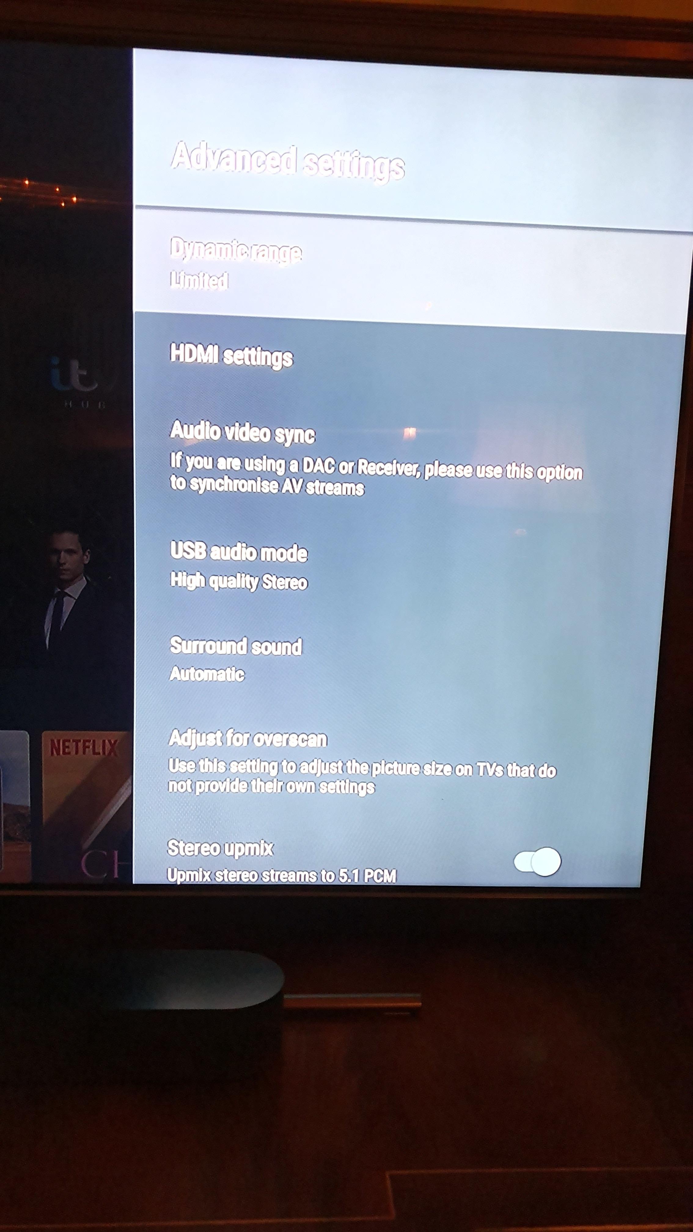 Sonos Beam, Nvidia Shield, Samsung TV surround problem