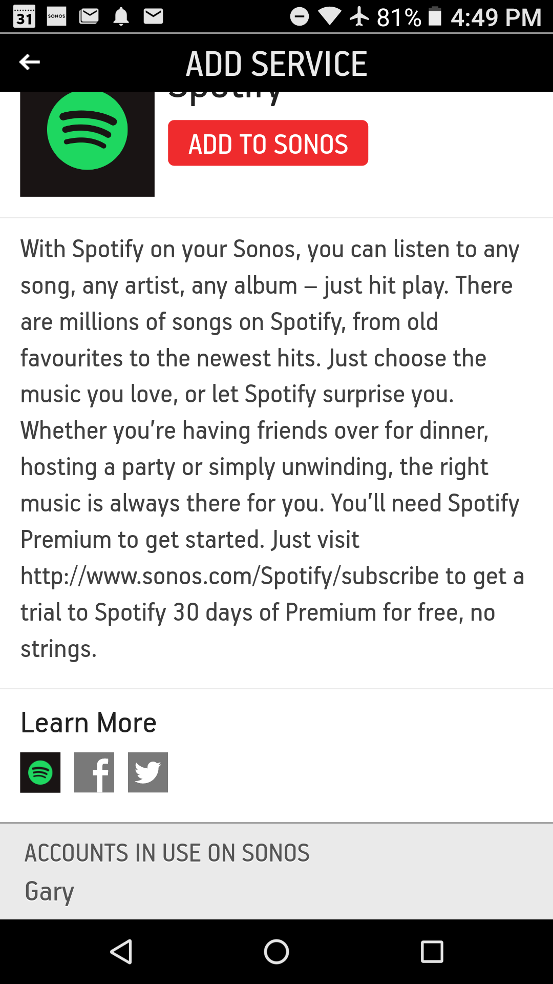 Spotify Family / Different accounts on Sonos possible? | Sonos Community