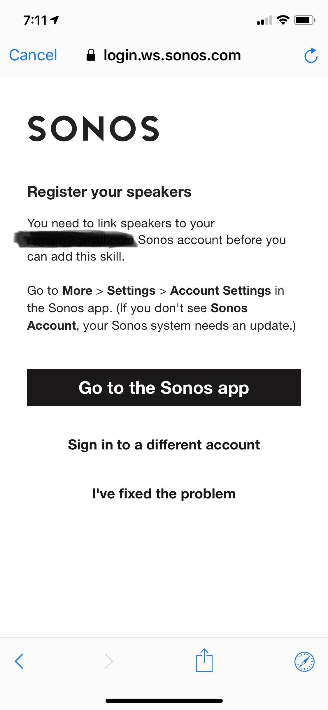 Unable to add Google Assistant | Sonos Community