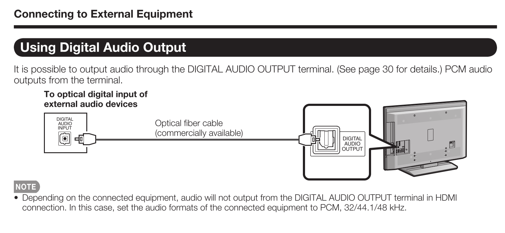 even though there is no audio adjustment for the genie   all is not lost  i  suggest connecting the genie mini c41w-100 via hdmi to your tv