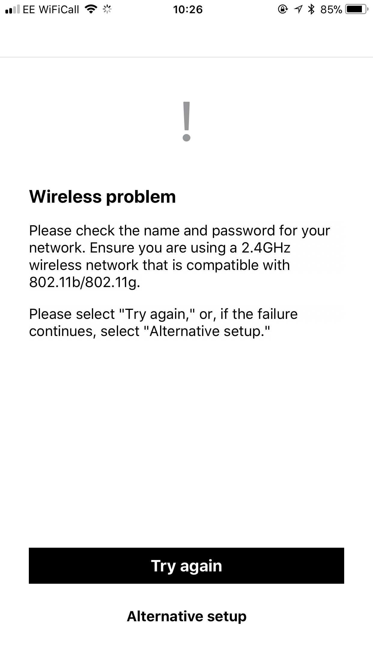 I don't see SONOS in my wireless network when I try to set