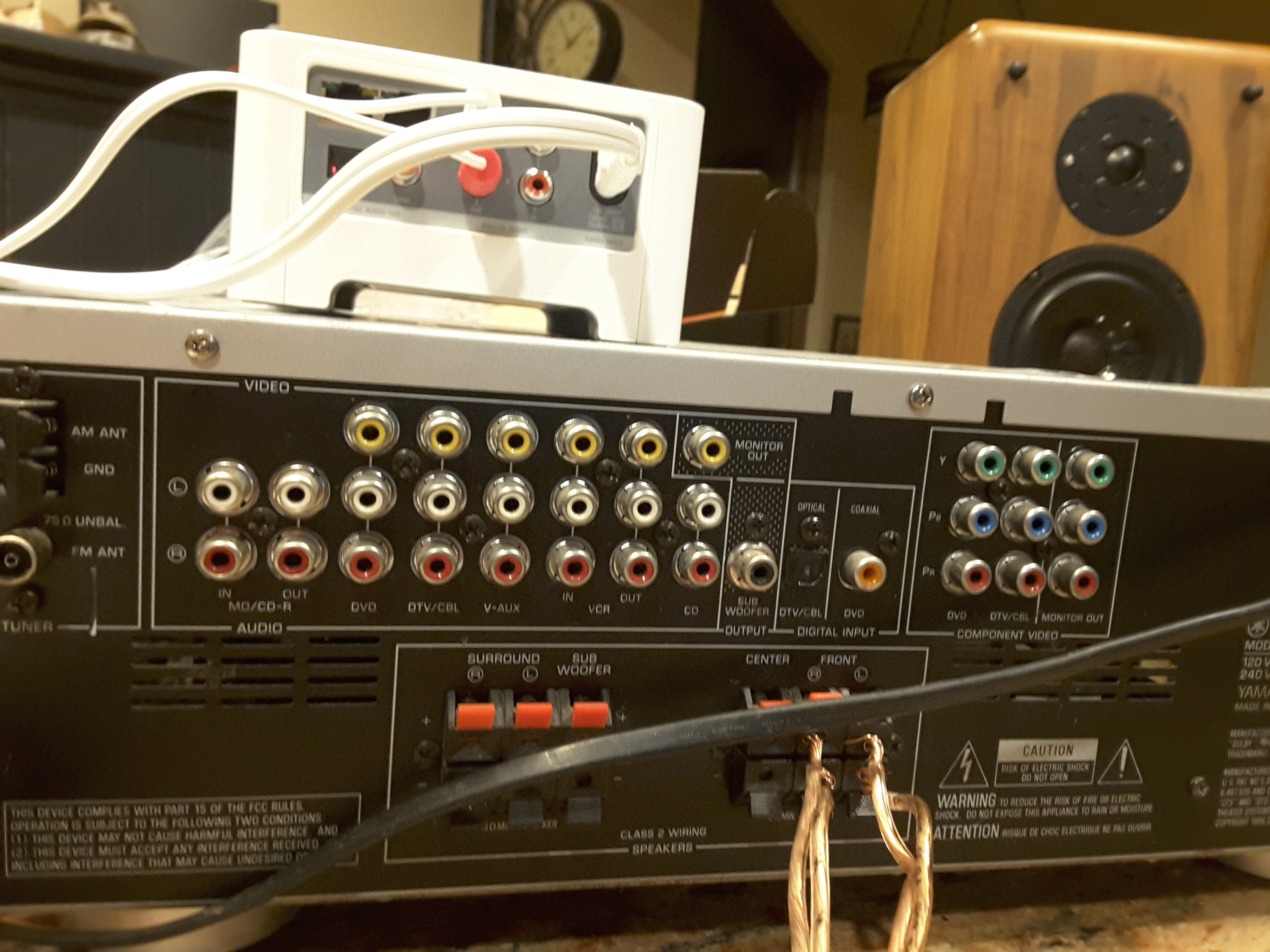 connect and a 15 year old Yamaha HTR 5920 AV receiver