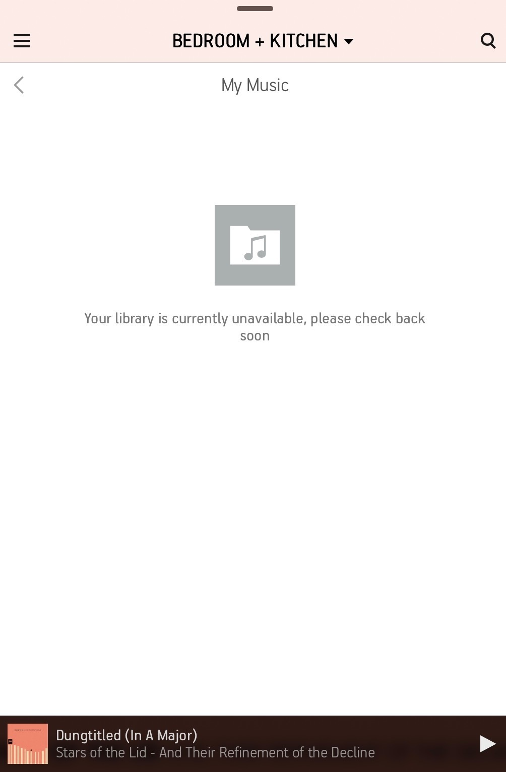 Apple Music: Your library is currently unavailable   Sonos