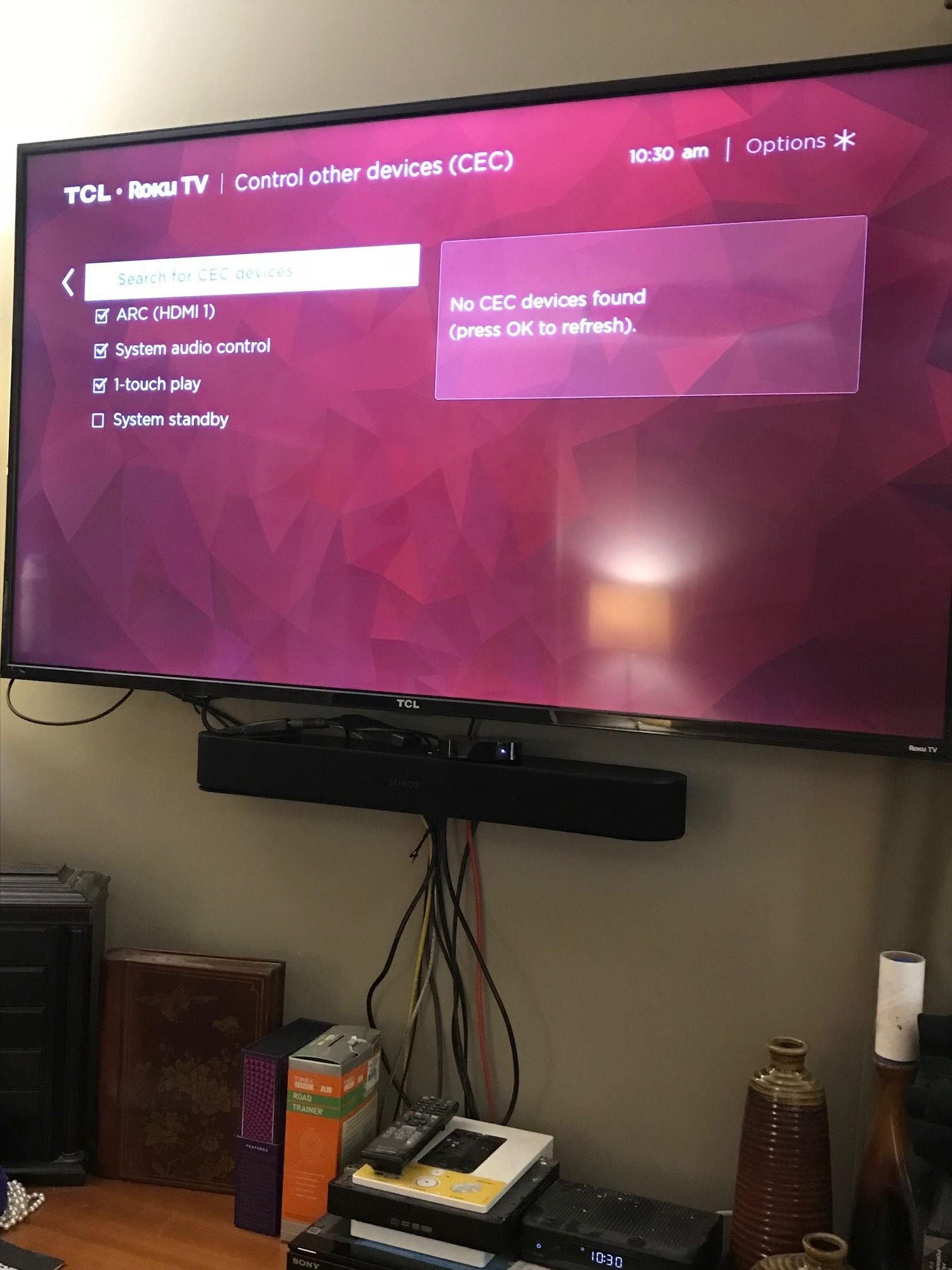 Beam not recogonizing tv | Sonos Community