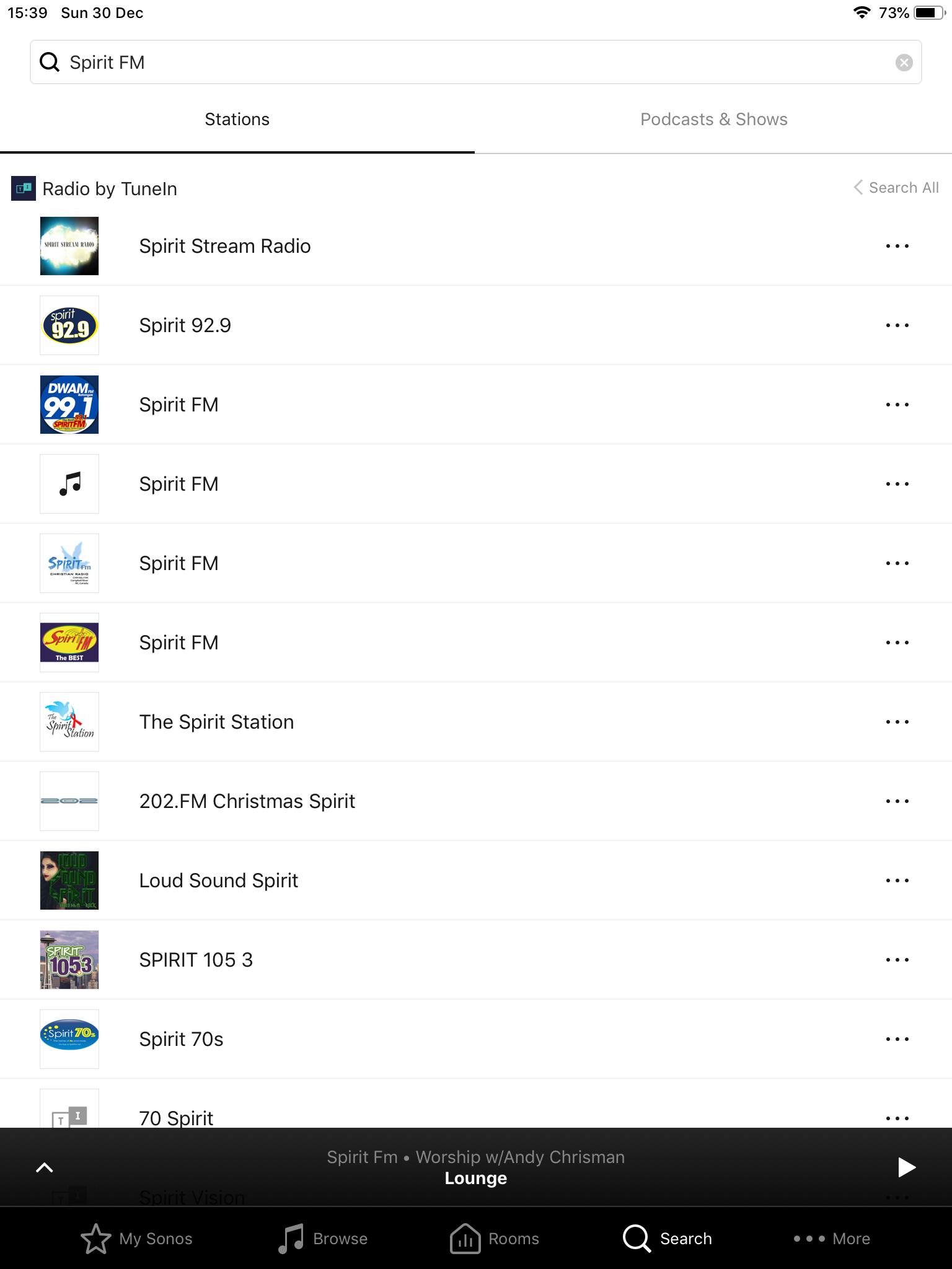 TuneIn radio station Format not supported when asking Alexa   Sonos