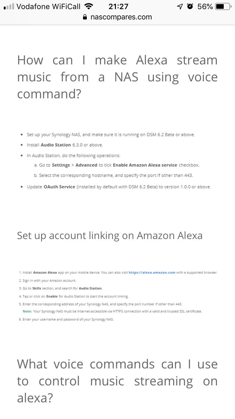 Synology Nas, And Alexa | Sonos Community