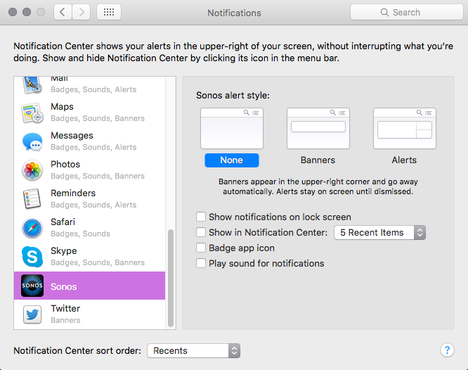 How do I stop popup notification in the corner of Mac screen every